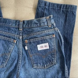 Vintage Levi's White Label Early 80s High Rise Straight Crop Modern 6